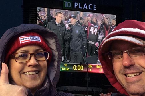 Red Black Final Game - Charlene Buske Ottawa Realtor