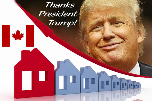 Trump Caused Canadian Real Estate Sales Increase?